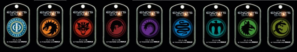 ENDERS GAME Dog Tags - Fan Experience